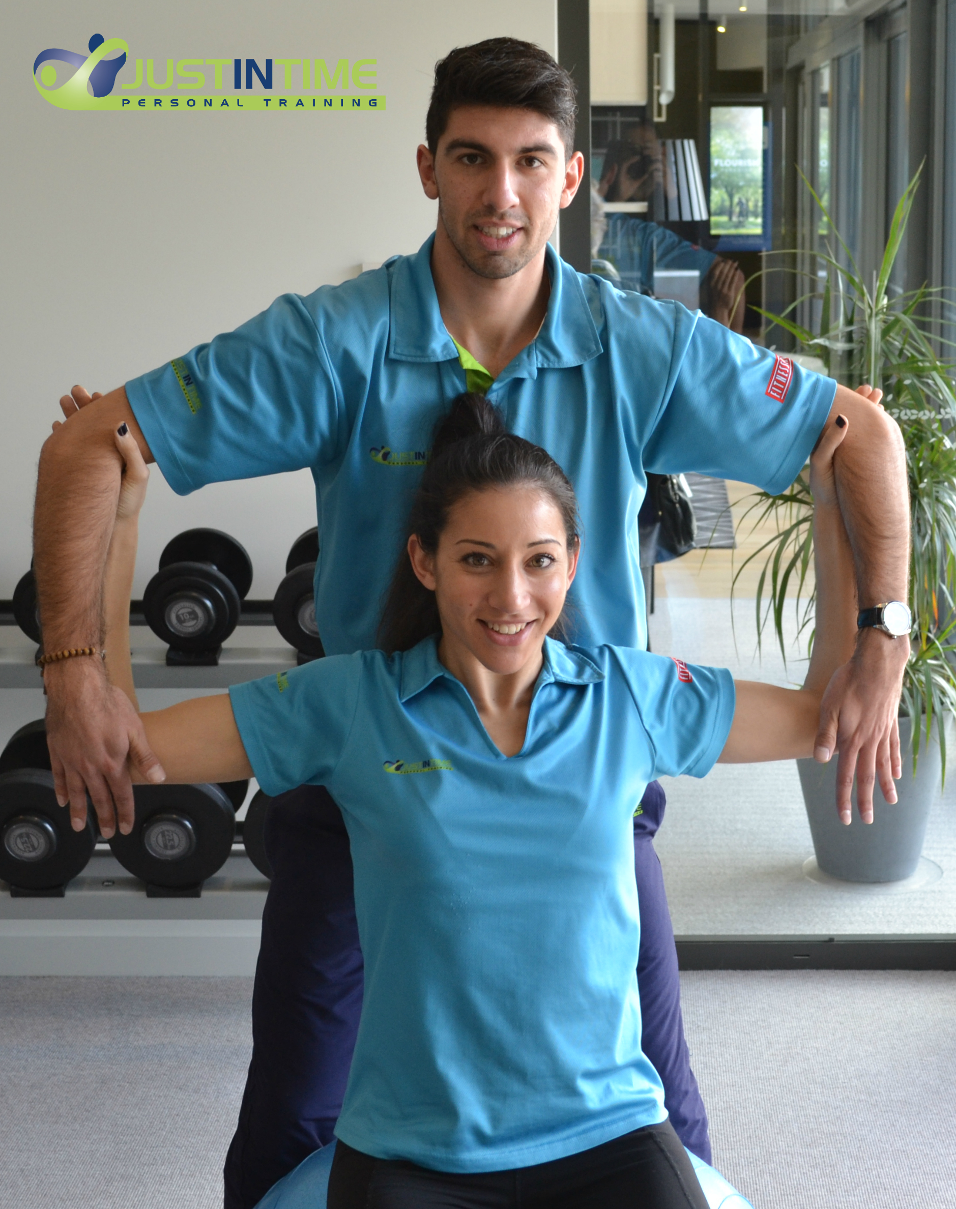 Chest stretch on Swiss Ball - trainer assisted full elbow interlock